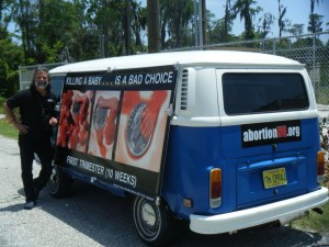 Truth truck redefined | pro-life pictures on display