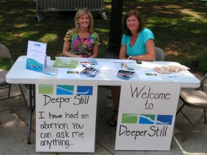 Deeper Still's Karen Ellison and ____ Smith at Market Square.