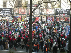 Students attending the March for Life discover what it is they are marching about.