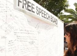 Free speech board at Florida International University