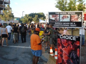 "The ""Art"" of Abortion display at Artscape 2011 was visible to thousands"