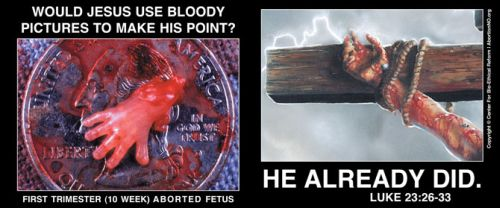 Would Jesus Use Bloody Pictures?