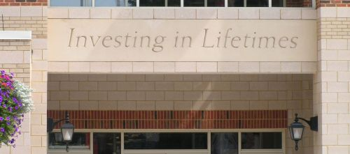 Radford University announced our presence with this inscription etched in the wall of the Student Center, overlooking the GAP display.