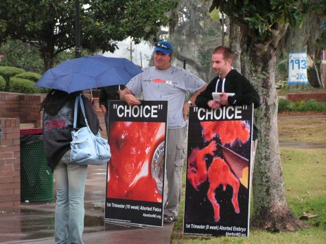 """Choice"" signs on display at Florida A&M University (FAMU)"