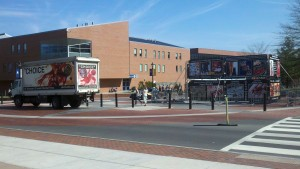 GAP display and RCC truck at UConn