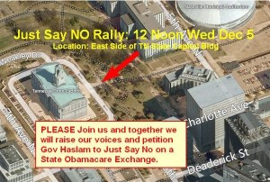 Just Say NO Rally, Dec 5, 12:00 Noon, Tennessee State Captiol