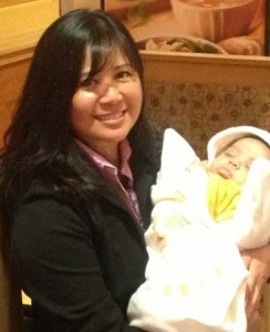 Ruby Nicdao and one of the babies she helped save at the largest abortion mill in Virginia