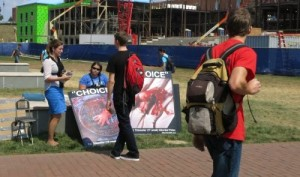 Liberty University students expose the truth to students who may be very open to understanding what's going on.