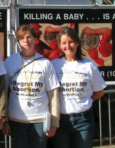 "Post-abortive women say, ""I regret my abortion; please ask me about it."""